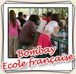 Photos de l'intervention à l'école française de Bombay