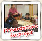 Présentation du projet aux classes partenaires en France